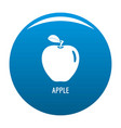 apple icon blue vector image vector image