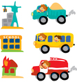 assorted car set vector image