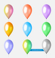 balloons multicolored on white background vector image