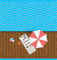 beach stuff with deckchair vector image vector image