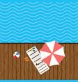 beach stuff with deckchair vector image vector image
