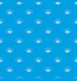 bee pattern seamless blue vector image vector image