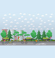 bike path in the park concept vector image vector image