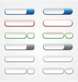 blank buttons vector image vector image