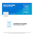 blue business logo template for implementation vector image