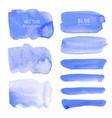 blue watercolor background pastel watercolor vector image vector image