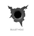 bullet hole damage and cracks on surface from vector image vector image