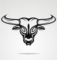Bulls Head Tattoo Design vector image