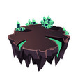 cartoon stone isometric island with crystals for vector image vector image