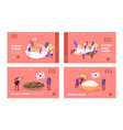 characters eating and cooking korean cuisine vector image vector image