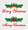 christmas decoration merry christmas vector image vector image