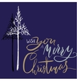 Christmas tree silhouette design for greeting vector image vector image