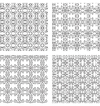 Circular Ornaments Pattern Set vector image