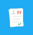 curriculum vitae like cv icon vector image vector image