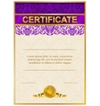 Elegant template of certificate diploma vector image vector image