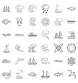 environment icons set outline style vector image vector image