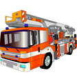 fire engine lader vector image vector image
