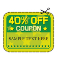 Forty percent discount vector image vector image
