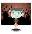 Frankenstein with Halloween vector image vector image