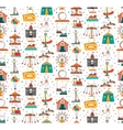 Funfair Fair Amusement Park Seamless Pattern vector image vector image