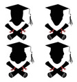 graduated people head with diploma icon vector image vector image