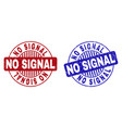 grunge no signal scratched round stamp seals vector image vector image