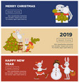 happy new year 2019 web pages with text sample vector image