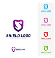 initial s shield logo design concepts s letter vector image