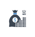 investment related glyph icon vector image vector image