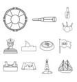 isolated object treasure and ocean icon vector image