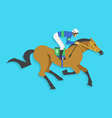 jockey riding race horse number 9 vector image vector image