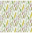 leaves and branches seamless pattern hand drawn vector image vector image