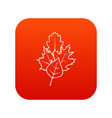 leaves icon digital red vector image vector image