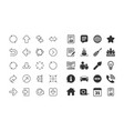 linear arrow icons download synchronize vector image vector image