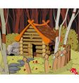 little house in forest vector image vector image