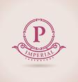 Luxury logo restaurant Calligraphic pattern vector image vector image