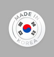 made in korea quality seal flag circle stamp vector image vector image