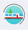 modern train icon travel concept background vector image
