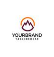 mountain circle logo design concept template vector image vector image