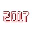 New Year text vector image