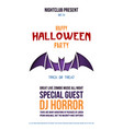 origami flyer with bat for halloween celebration vector image vector image