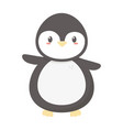 penguin polar animal bird icon vector image vector image