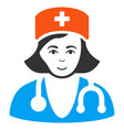 physician lady icon vector image