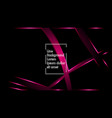pink ribbon wave on a black background layout vector image vector image