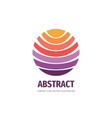 positive abstract sphere - business logo vector image vector image
