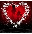 Red designwhite heart vector image vector image