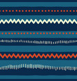 seamless red and blue tribal doodle pattern vector image vector image