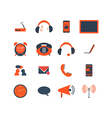 Set of communication icon vector image