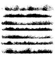 set of different ink paint brush stroke borders vector image vector image