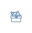 shopping cart wtih clothes line icon concept vector image vector image